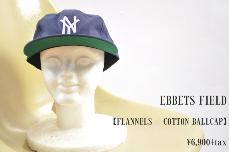 画像1: EBBETS FIELD FLANNELS  COTTON BALLCAP NEWYORK  帽子 小物 人気 通販