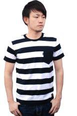 画像2: SKULL WORKS スカルワークス Tシャツ S.W.ボーダー メンズ 人気 通販 ブランド (2)