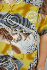 画像2: 倉 アロハシャツ 虎柄 (2)