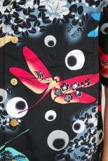 画像2: セール!! MAKANA LEI マカナレイ 和柄 アロハシャツ TOMBO - N(ブラック)  (2)