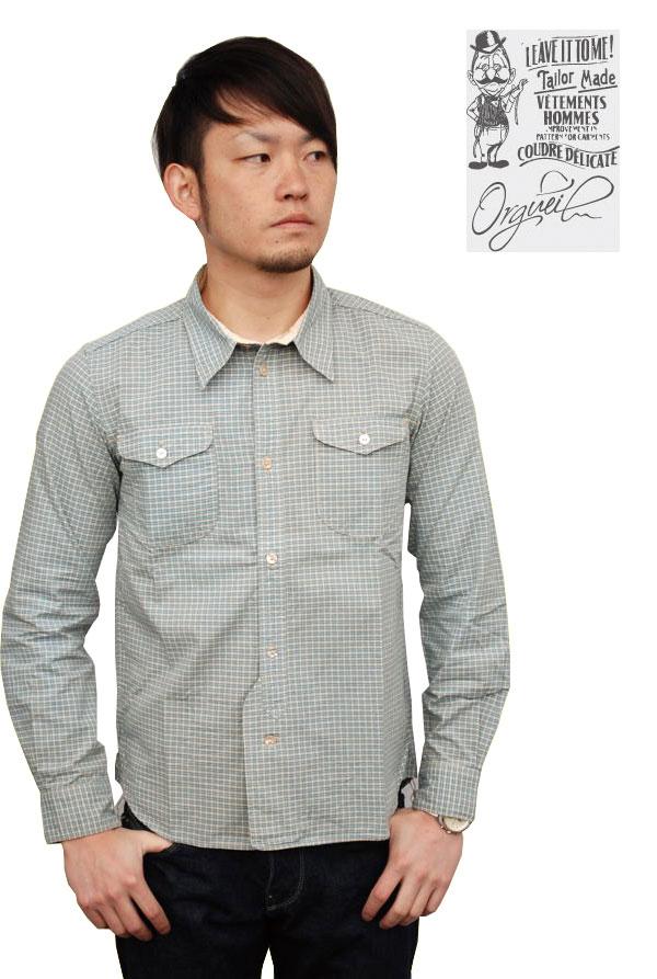 画像1: ORGUEL オルゲイユ OR-070A Classic Work Shirt メンズ 通販 人気 (1)