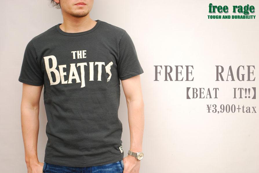 画像1: FREE RAGE フリーレイジ BEAT IT!! Tシャツ SUMI 214AC403-A メンズ 通販 人気 (1)