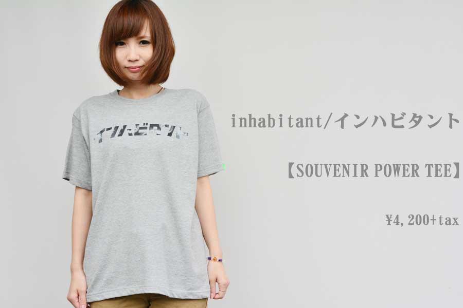 画像1: inhabitant インハビタント SOUVENIR POWER TEE レディース 通販 人気 (1)