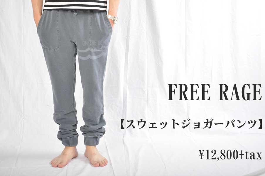 画像1: FREE RAGE フリーレイジ 裏毛スウェットジョガーパンツ NAVY メンズ 人気 通販 (1)