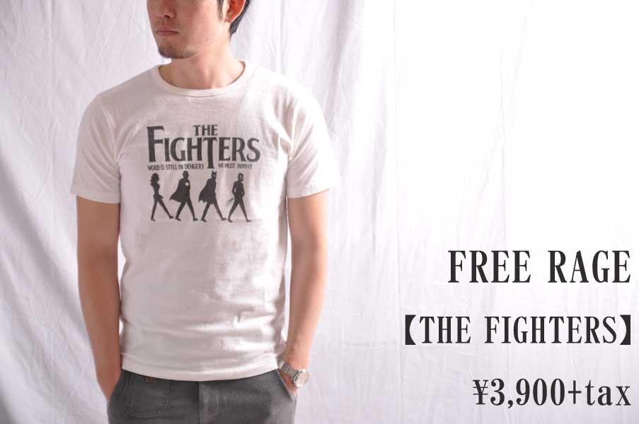 画像1: FREE RAGE フリーレイジ THE FIGHTERS Tシャツ メンズ レディース 人気 通販 (1)