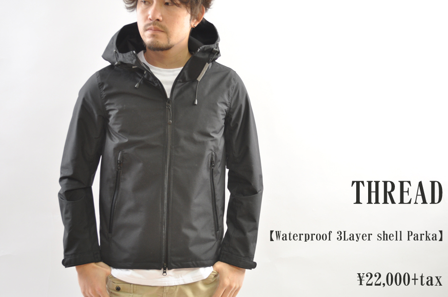 画像1: THREAD Waterproof 3Layer shell Parka BLACK メンズ 人気 通販 (1)