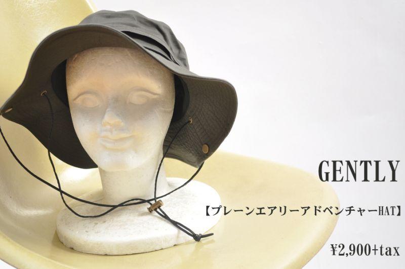 画像1: GENTLY プレーンエアリーアドベンチャーHAT  帽子 小物 人気 通販 (1)