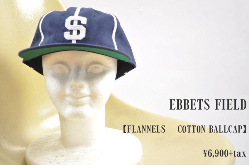 画像1: EBBETS FIELD FLANNELS  COTTON BALLCAP SACRAMENTO SOLONS  帽子 小物 人気 通販 (1)