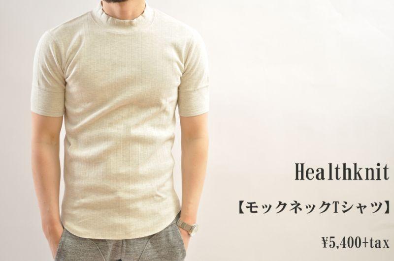画像1: Healthknit Vintage Broad Rib Mockneck S/S ヴィンテージブロードリブモックネックTシャツ メンズ 人気 通販 (1)