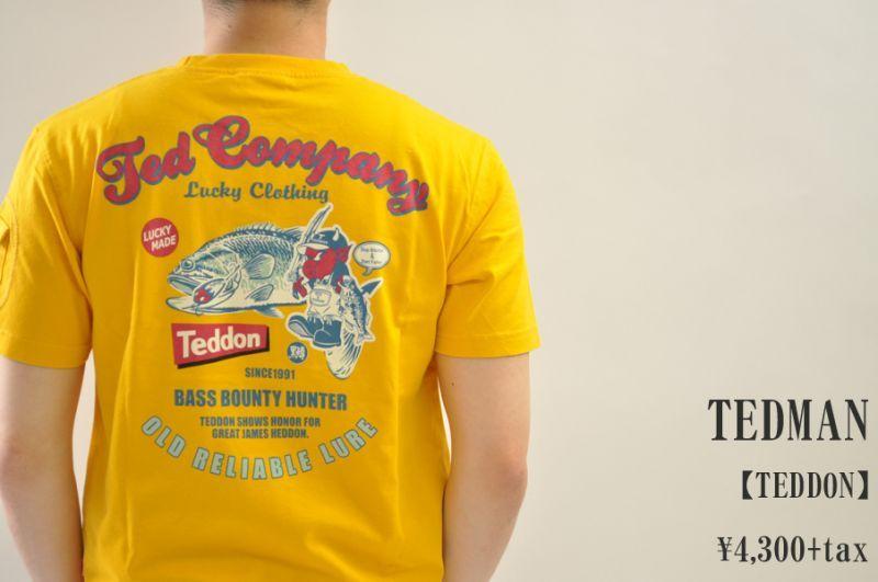 画像1: TEDMAN TEDDON Tシャツ イエロー エフ商会 メンズ 人気 通販 (1)