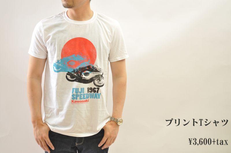 画像1: tee luv Fuji speedway 1967 プリントTシャツ メンズ 人気 通販 (1)