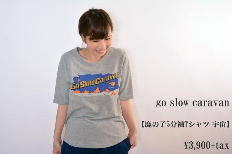 画像1: go slow caravan 鹿の子5分袖Tシャツ 宇宙 レディース 人気 通販 (1)