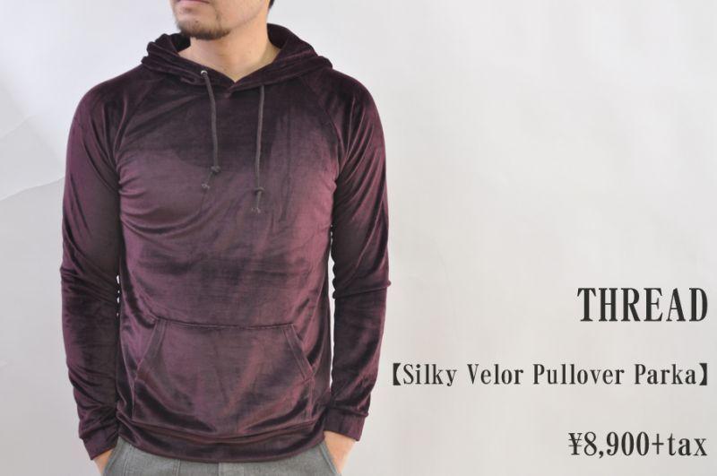 画像1: THREAD Silky Velor Pullover Parka BLACKBERRY メンズ 人気 通販 (1)