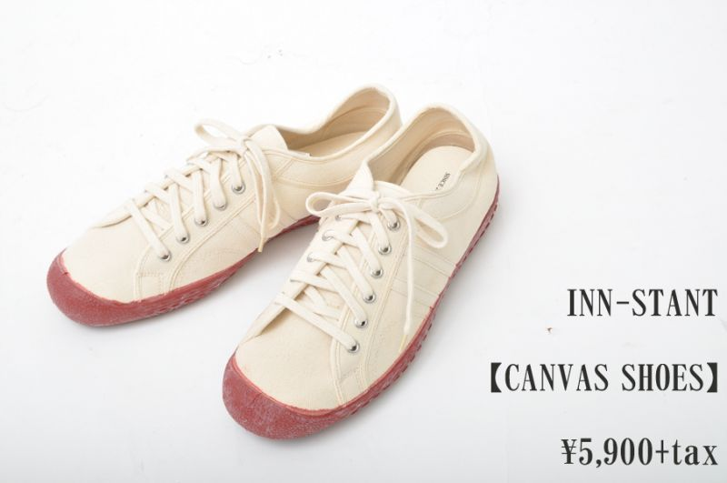 画像1: INN-STANT CANVAS SHOES #105 NATURAL/NATURAL(RED SOLE) メンズ レディース 人気 通販 (1)