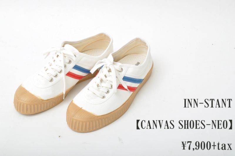 画像1: INN-STANT CANVAS SHOES-NEO  #803 WHITE/RED-BLUE(GUM SOLE) メンズ レディース 人気 通販 (1)