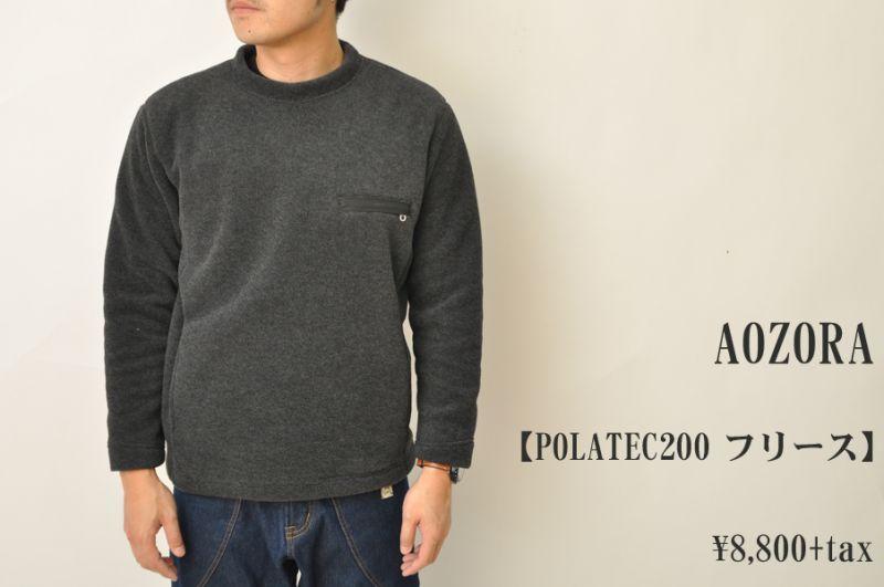 画像1: AOZORA POLARTECロンTEE フリース ブラック メンズ 人気 通販 (1)