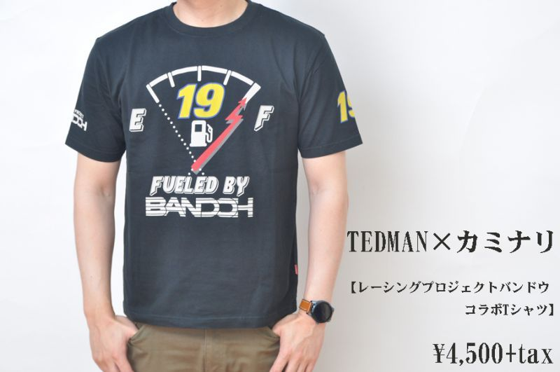画像1: TEDMAN×カミナリ レーシングプロジェクトバンドウ コラボTシャツ メンズ 人気 通販 (1)