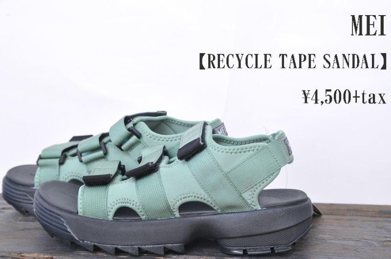 画像1: MEI RECYCLE TAPE SANDALE OLV DRUB メンズ サンダル 人気 通販 (1)
