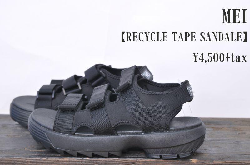 画像1: MEI RECYCLE TAPE SANDALE BLACK メンズ サンダル 人気 通販 (1)