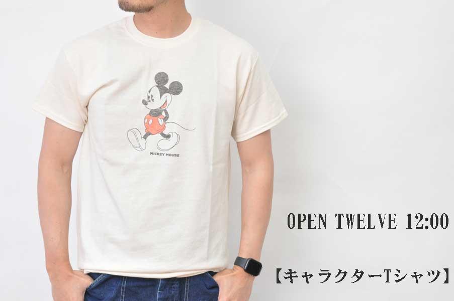 画像1: OPEN TWELVE 12:00 キャラクターTシャツ ミッキー メンズ 人気 通販 (1)